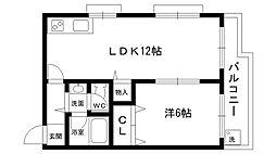 サンパレス21夙川東[102号室]の間取り