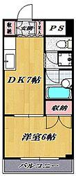サウスショア都倉[203号室号室]の間取り