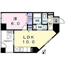 プラシード カーサIII[6階]の間取り