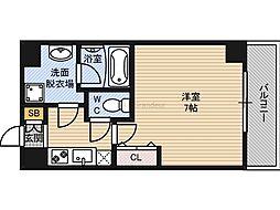 Osaka Metro谷町線 千林大宮駅 徒歩9分の賃貸マンション 6階1Kの間取り