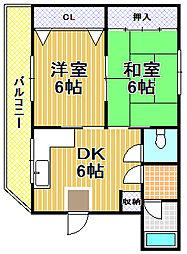 富里ハウス[2階]の間取り