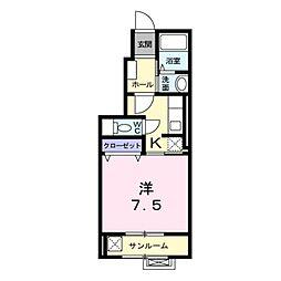 長野県飯山市大字飯山の賃貸アパートの間取り