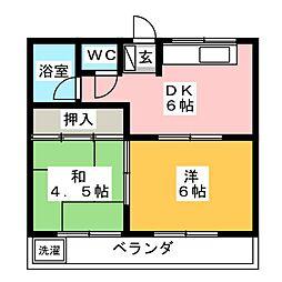 コーポ寿[1階]の間取り