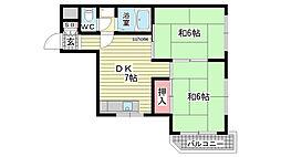 シャルム桜ケ丘[3A号室]の間取り