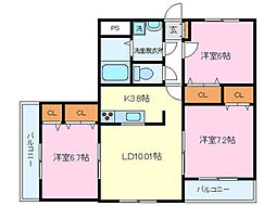 ヒーローマンション大岡[4階]の間取り