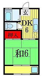 セブンストーンマンション[2階]の間取り