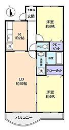 千葉県八千代市ゆりのき台5丁目の賃貸マンションの間取り