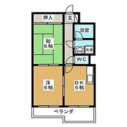 サンライフ[2階]の間取り