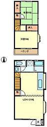 [テラスハウス] 埼玉県さいたま市中央区大戸2丁目 の賃貸【/】の間取り