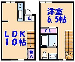 [テラスハウス] 千葉県市川市下新宿 の賃貸【千葉県 / 市川市】の間取り