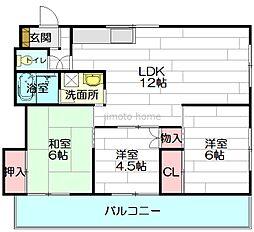 石田ビル[9階]の間取り