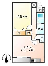 センチュリーパーク供米田 1番館[3階]の間取り
