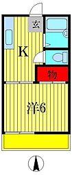 サンハイツ新松戸B[1階]の間取り