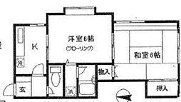 神奈川県横浜市泉区緑園5丁目の賃貸アパートの間取り