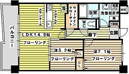 ルーセント菅原[3階]の間取り