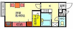 レオパレスパストラル博多[2階]の間取り