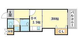 MISTRAL岡田[108号室]の間取り