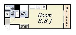 ZERO弁天[6階]の間取り