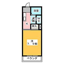ミノタハイツ出川III[1階]の間取り
