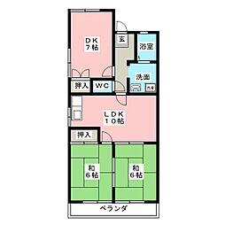 第2ひいらぎコーポ[2階]の間取り