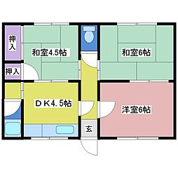 青雲荘[1階]の間取り