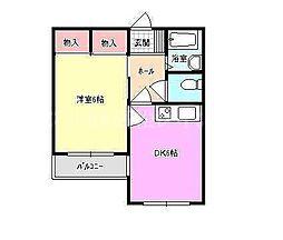 香川県高松市西ハゼ町の賃貸マンションの間取り