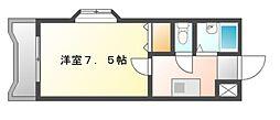 岡山県岡山市北区野田3丁目の賃貸マンションの間取り