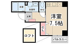 ZONE 1/f PART5(ゾーンエフブンノイチ)[4階]の間取り