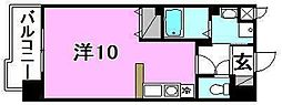 メゾンドール錦町 4階ワンルームの間取り