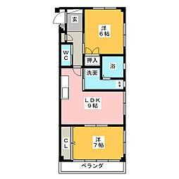 ソレーユFUJI[2階]の間取り
