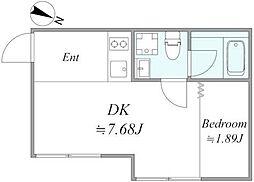 東京メトロ有楽町線 地下鉄赤塚駅 徒歩10分の賃貸アパート 2階1DKの間取り