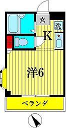 新松戸小川ハイツ[306号室]の間取り