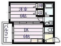 ヴァイスハイム[1階]の間取り