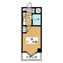 デトム・ワン三条通[2階]の間取り