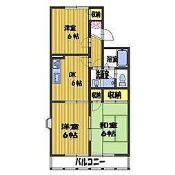 セジュールネオサイト3[2階]の間取り
