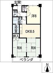 ヴィラージュヨコヤマ[4階]の間取り