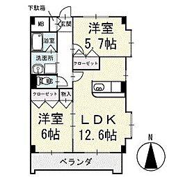 スカイビレッジ 4階[401号室]の間取り