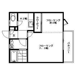 三鷹アパート[202号室]の間取り