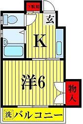 ラヤマコーポ[403号室]の間取り