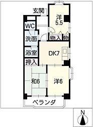 大宮セントラルマンション[6階]の間取り