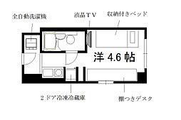 コスモリード京都今出川[2階]の間取り