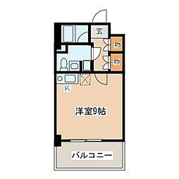 神奈川県川崎市川崎区南町の賃貸マンションの間取り