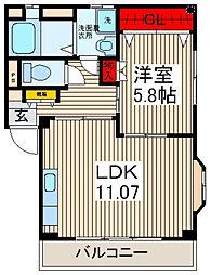 メゾン長栄III[301号室]の間取り