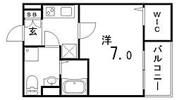 Sweat Doors神戸[3階]の間取り