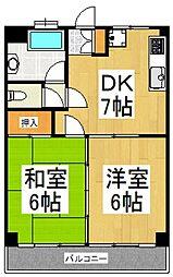 斉藤マンション[106号室]の間取り