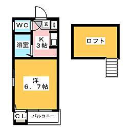 コーポ・ソフィア[2階]の間取り