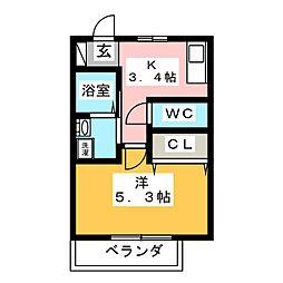 コーポオータ I[2階]の間取り