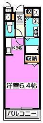 東京都西東京市北町3丁目の賃貸アパートの間取り