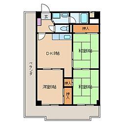 ボラードマンション[506号室]の間取り