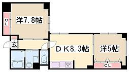 エヴァ・タウン海運[4階]の間取り